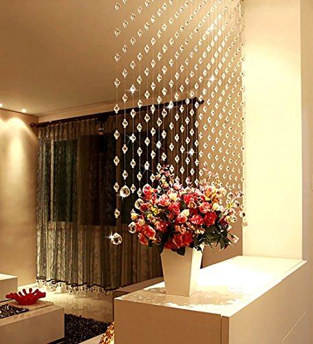 WUFENG Vorhang Bead Vorhang Glas Eingang Wohnzimmer abgeschnitten Eine Vielzahl von Farben und Größen Vorhänge (Farbe : A, größe : 0.8m-25strings)