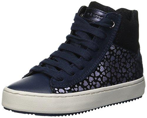 Geox Mädchen J Kalispera Girl D Hohe Sneaker, Blau (Navy C4002), 34 EU