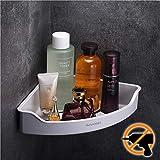 Wangel Mensola ad Angolo per Doccia Bagno con Adesivo Forte, Senza Foratura, Ripiano per Doccia in Plastica ABS