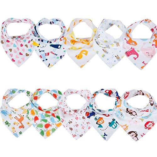 Labebe Baby Dreieckstuch Lätzchen Spucktuch 10er Pack (A)
