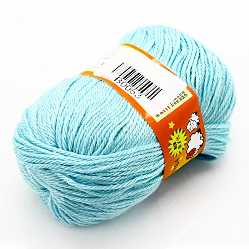 joyliveCY Joystore Baby Handwerk Garn Kammgarn Pullover Weiche Wolle Cashmere Strick 50g Hellblau (Häkeln Silk)
