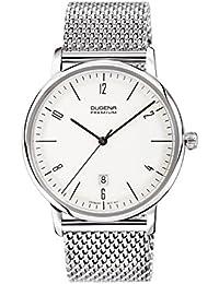 Dugena Herren-Armbanduhr Dessau - Modern Classic Analog Quarz Edelstahl 7090238
