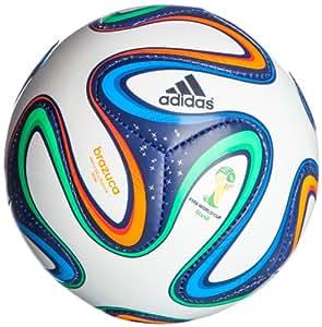 adidas Brazuca Mini Ballon de foot Enfant White/Night Blue F13/Multicolor Taille 1