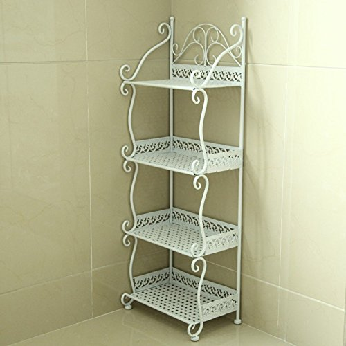Étagère de salle de bain étagère étagère de salle de bain étagère étagère étagère étagère étagère ( Couleur : Blanc , taille : 32*21*88cm )