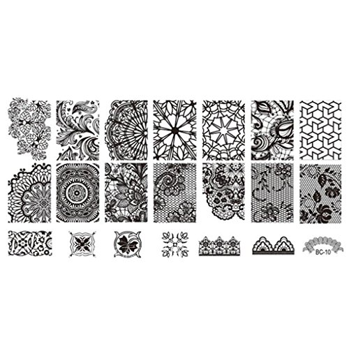 Luckiests Lace Stamper Nails Art Timbro stampaggio Nail Piastra Fiori Template Image Printer