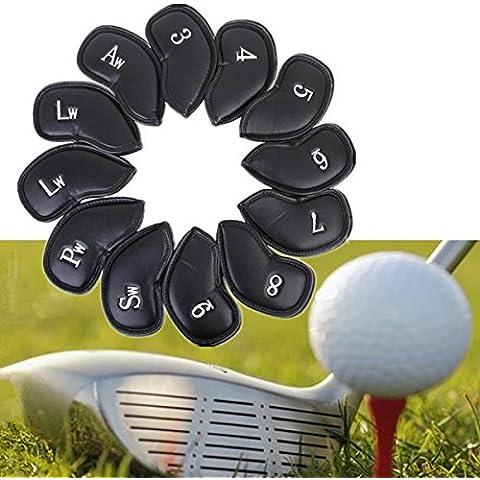 Copertine 12PCS Cuoio ferro di golf Club Putter Headcovers protezione
