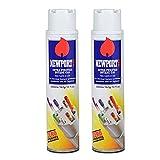 Newport 2 cans of 300ml Ultra Purified Butane Fuel Zero Impurities, White