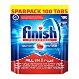 Finish All in 1 Plus Spülmaschinentabs, Sparpack, 1er Pack (1 x 100 Tabs)