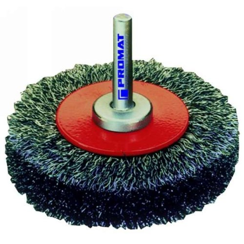 Brosse ronde avec fil, ondulé : diamètre 50 mm