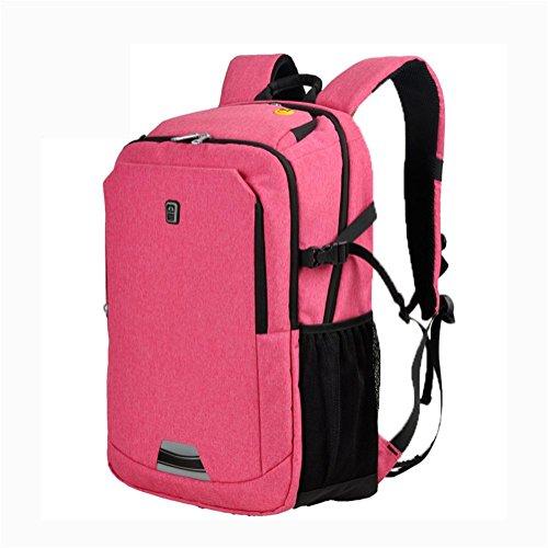 Laptop zaino affari Borsa a tracolla studente Borsa da scuola viaggio Grande capacità zaino pink