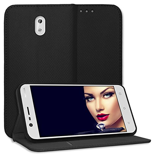 mtb more energy® Schutz-Tasche Bookstyle für Nokia 3 (5.0'') | schwarz | Kunstleder | Klapp-Cover Hülle Case