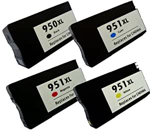 4 ink compatible with HP 950XL 951XL SET