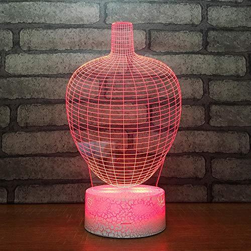 s-Lampen Flasche 7 Farben Erstaunliche Optische Täuschung Die Schlafzimmer-Dekoration Für Kinder Weihnachten Halloween-Geburtstagsgeschenk Beleuchten ()