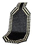 IWH 011140 Holzkugel-Sitzauflage Black, Schwarz