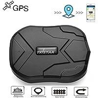 TKSTAR GPS Tracker, GPS Locator GPS / GSM Tracker Echtzeit GPS Ortung für Auto Moto Fahrzeug mit 5000 mAh Batterie 90 Tage Standby-Zeit mit kostenloser App