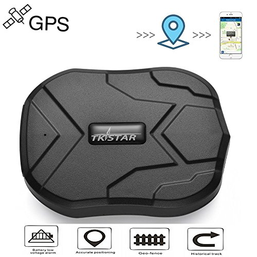 TKSTAR GPS Localizador GPS/GSM Satélite Tracker Antirrobo en Tiempo Real Portátil para Coche Moto Vehículo con 5000mAh de Ultra Batería de Gran Capacidad Magnetic GPS Tracker Car, 3 meses de larga espera de seguimiento GPS, impermeable en tiempo real de seguimiento GPS Locator profesional anti-perdida de GPS de alarma de la persecución TK905