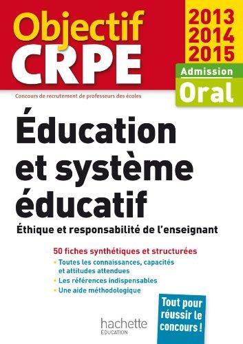 Le CRPE en fiches : Éducation et système éducatif