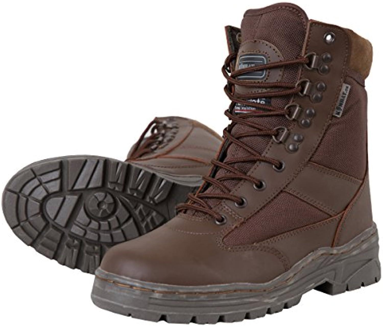 Botas militares Kombat UK, de piel y nailon, para hombre, hombre, color MOD Brown, tamaño 9
