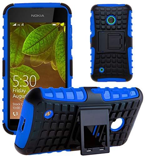 G-Shield Hülle für Nokia Lumia 530 Stoßfest Schutzhülle mit Ständer - Blau