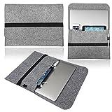 Love My Case hellgrau 33.78 cm, 33.02 cm Schurwolle, Laptop Sleeve/Case/Hülle/Tasche für Toshiba Portege R 700-15R mit 5 x und LMC Reinigungstuch