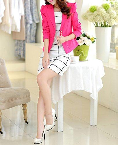 Aisuper - Giacca da abito - Maniche lunghe  -  donna Pink