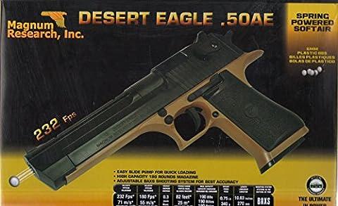 Pistolet Plastique Magnum Desert Eagle 50 Ae 0.300 Joules Attention: Vente Interdite Aux Personnes Âgées De Moins De 18