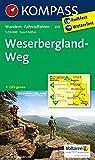 Weserbergland-Weg: Wanderkarte mit Radtouren. GPS-genau. 1:50000: Wandelkaart 1:50 000 (KOMPASS-Wanderkarten, Band 819)