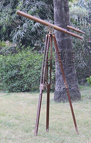 Klassischen Retro Thema Teleskop Messing antik rostigen Finish Holz Stativ Kompakt