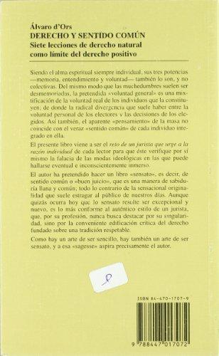 Derecho  y Sentido Común (Cuadernos) por Álvaro D'Ors