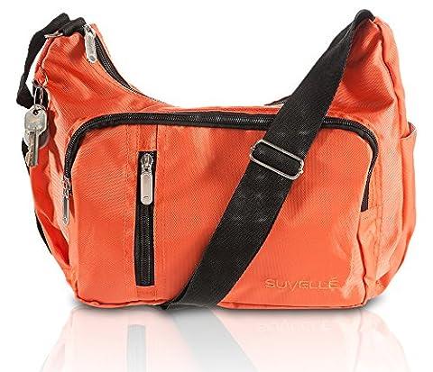 Suvelle Slouch Travel Crossbody Bag Shoulder Handbag Multi Pocket Nylon Purse 2054