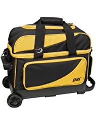 BSI Double Ball Roller Bag, Black/Yellow by BSI