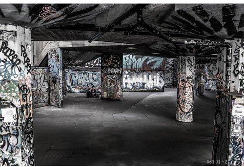 300cmx250cm Clothing Store KTV bar Sofa TV Hintergrund Zement Mauer Graffiti Kunst industrial wind Wandbild Tapeten, Schwarz -