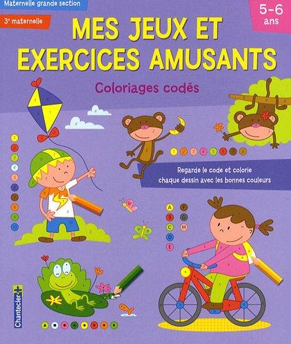 Mes jeux et exercices amusants, Maternelle grande section : Coloriages codés
