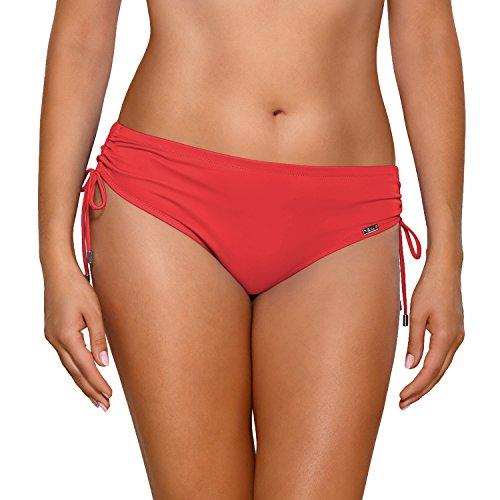 AVA SF-13//3 Bikinislips Dame Bademode Musterlos Normaler Bund Gerafft Setteil EU