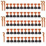 60 pz livellatore per piastrelle con chiave speciale, riutilizzabile livellatore per piastrelle, kit di livellamento per pavimenti e pareti