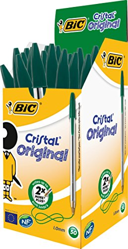 bic-cristal-original-punta-media-1-mm-confezione-50-penne-colore-verde