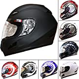 Best Motorcycle Helmets - Leopard LEO-818 Full Face Motorbike Helmet Matt Black Review