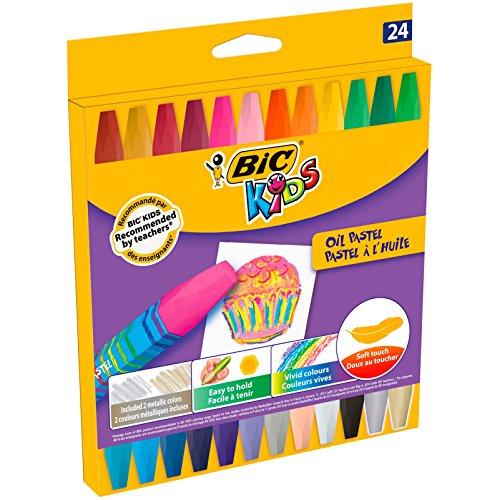 BIC Kids 926447 Ölmalkreide Oil Pastels, 24 Stück