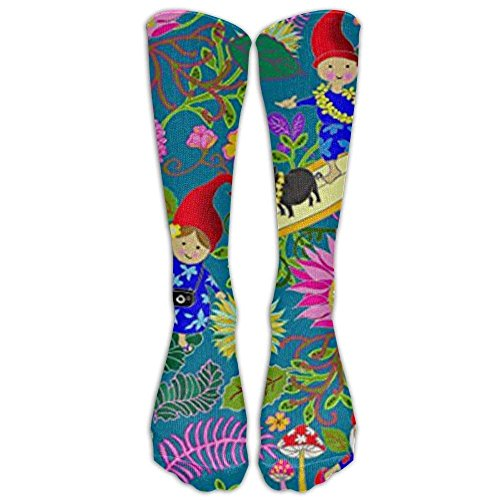 Hawaiian Garden Gnomes Knee High Graduated Compression Socks - Best Medical, Nursing, Travel & Flight Socks - Running & Fitness