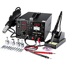 Estación de soldadura 853d soldador aire caliente 3en 1estación de soldadura desoldar SMD temperatura ajustable 100~ 480℃ ambiente rápido pantalla LED Digital Precisa