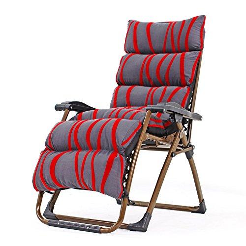 FEIFEI Fauteuils inclinables Chaise Zero Gravity, chaises de patio de salon extérieur avec inclinable pliant réglable pour terrasse, patio, plage, cour, support de jardin 350lbs rouge + gris Pliant