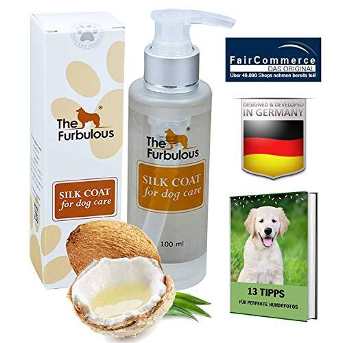 The Furbulous Silk Coat - Alles in einem Hundepflegemittel aus Kokosöl gegen Hundegeruch, Haarausfall, UV Strahlung, statische Haaraufladung, Verfilzungen und Zecken