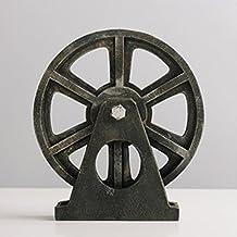 YONG Las ruedas industriales retro bar cafetería de estilo, forjado de hierro adornos adornos de escritorio