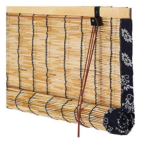 Chaxia tenda di bambù tapparella avvolgibile tenda di bambù tapparella avvolgibile soggiorno balcone canna parasole traspirante decorazione di fondo, 3 colori, multi-size, personalizzabile