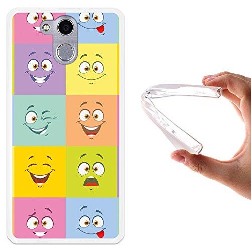 WoowCase Elephone P7000 Hülle, Handyhülle Silikon für [ Elephone P7000 ] Multifarbige Expressive Zeichentrickfilmfiguren Handytasche Handy Cover Case Schutzhülle Flexible TPU - Transparent