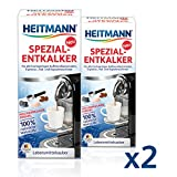 Heitmann Kaffeevollautomaten Entkalker: Kalklöser für Kaffeemaschinen, Espressomaschinen, Padmaschinen - Kalk-Entferner auf 100% naturidentische Wirkstoffe– 2 x 250 ml