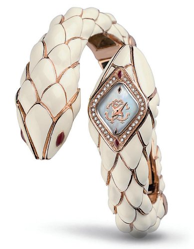 Roberto Cavalli Ladies Watch R7253151545 In Collection Snake Star, Rosegold with Swarovski