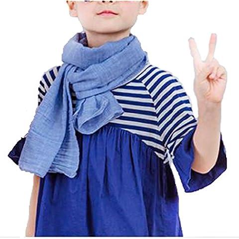 Bufandas del Bebé,Xinan Pañuelos Infantil Algodón Niños Niñas Otoño Invierno Sólido (Azul Marino)