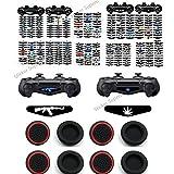 Light Bar Stickers Decal Schützende Aufkleber Vinyl Wrap Decals für Dualshock 4 Playstation 4,PS4 Slim,PS4 Pro Kontroller 40 Stück Lichtleistenbilder und 8 Stück Daumengriffkapp (40 Teilig)