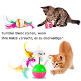 AILUKI 26 Stück Katzenspielzeug Set mit Katzentunnel Katzen Spielzeug Variety Pack für Kitty - 8